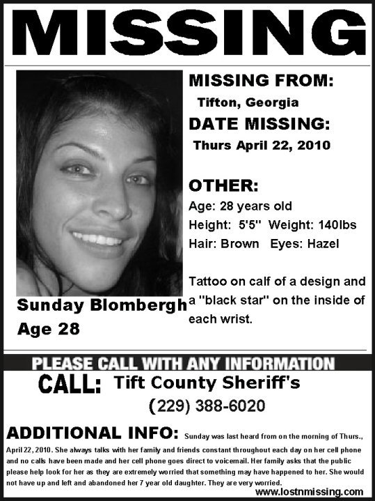 Nora Thomas U2013 Short Bowel Syndrome Survivor!  Missing Person Picture